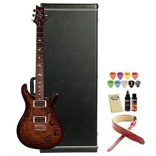 PRS USA P22 10 Top Flame Maple Top Electric Guitar with Piezo Tremolo (serial #:219593), Black Gold Wrap