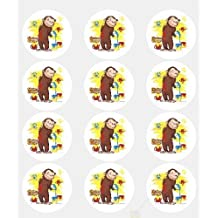 Cute Curious George Monkey Edible Cake Image Topper [Toy]