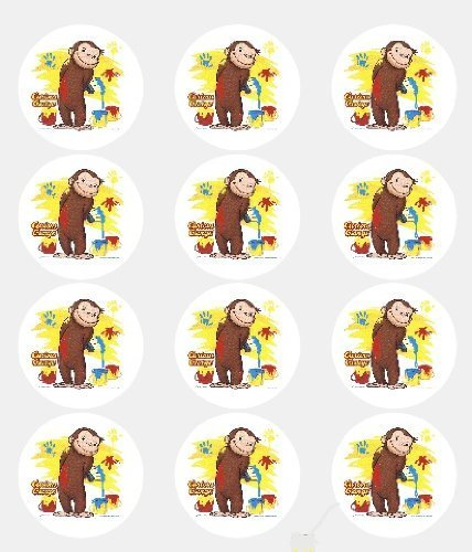 12 -Curious George Edible Cupcake Toppers by A Birthday Place -