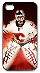 LZHCASE Personalized Protective Case for iPhone 4/4S - NHL Calgary Flames #34 Miikka Kiprusoff