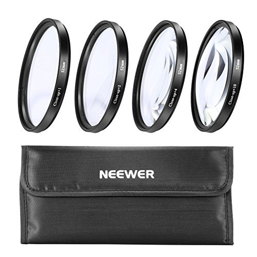 NEEWER® 52mm 4pc Close-Up Kit Macro Lenses For Nikon D40 D40X D60 & All Other 52mm Lenses 10000097