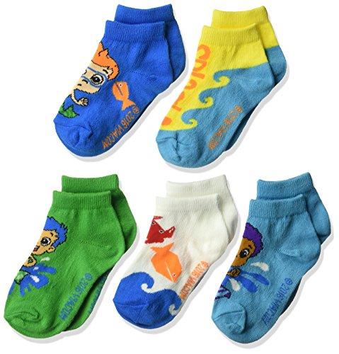 Nickelodeon Boys' Bubble Guppies 5 Pack Shorty Socks