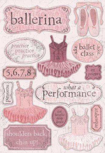 Single Page Scrapbook Layout - Karen Foster Design Acid and Lignin Free Scrapbooking Sticker Sheet, Ballerina