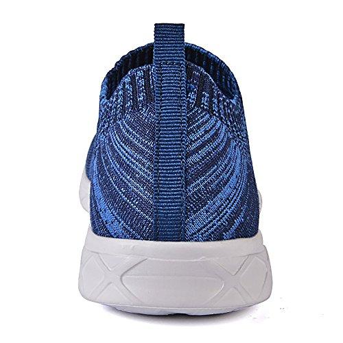 Feetmat Mens Slip auf Wasser Schuhe sportliche Wanderschuhe Blau1