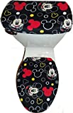 Black Fleece Toilet Seat Cover