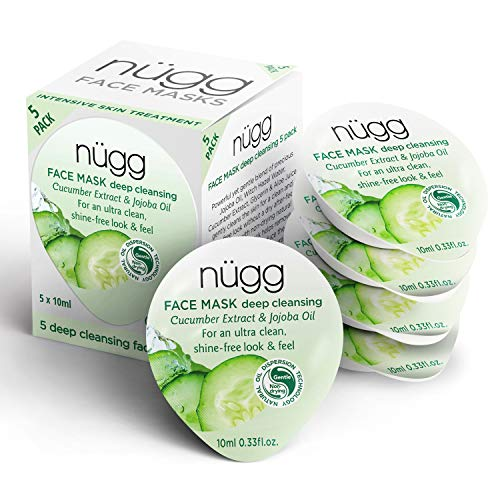 nügg Deep Cleansing Clear Skin Face Masks to Cleanse and help Soothe and Refine Pores; Non-Drying and For All Skin Types; 3 times Allure Best of Beauty Award Winner; 5 Pack