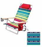 Deluxe Pillow Lay Flat 5 Position Aluminum Chair (Marine Pattern) Pkg/1