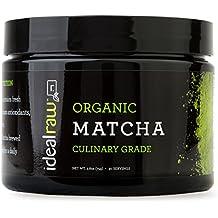 IdealRaw, Organic Matcha Tea, Natural Caffeine, Daily Energy, Antioxidants, Immune Health, Cleansing, 30 servings