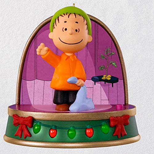 Hallmark Keepsake Christmas Ornament 2018 Year Dated, Peanuts A Charlie Brown Christmas, Linus With Sound and - Tree Christmas Brown Ornament Charlie