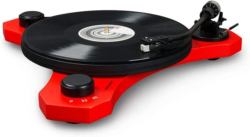 Crosley C3 2-Speed Belt-Drive Turntable with Audio-grade MDF Plinth and RCA Output, Red