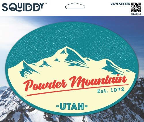 Squiddy Powder Mountain Utah - Vinyl Sticker Decal for Phone, Laptop, Water Bottle (3