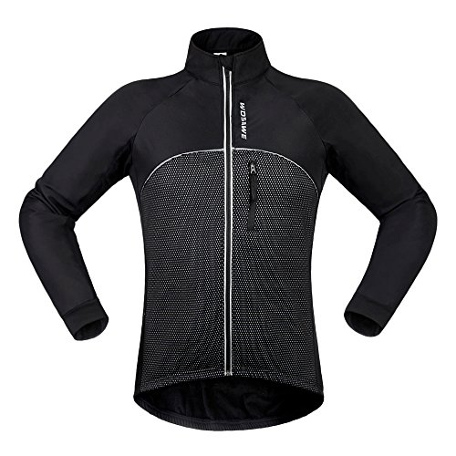 WOSAWE Men's Cycling Fleece Thermal Winter Jacket, Size XXL, Fleece - Vest Thermal Cycling