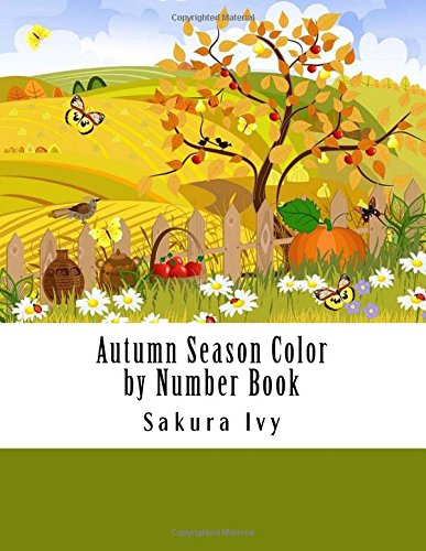 Download Autumn Season Color by Number Book (Adult Color By Number Coloring Books) pdf