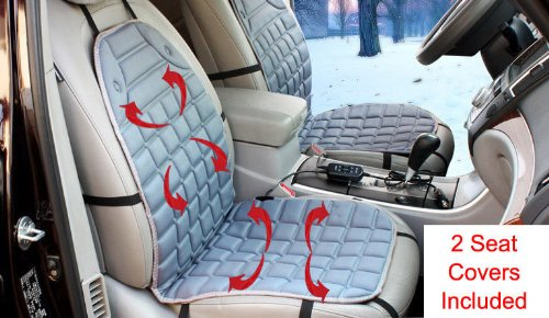Amazon 2 X 12V Car Seat Cover Cushion Hot Heat Warmer Pad Winter W Remote Control Automotive Electronic Security Products Baby