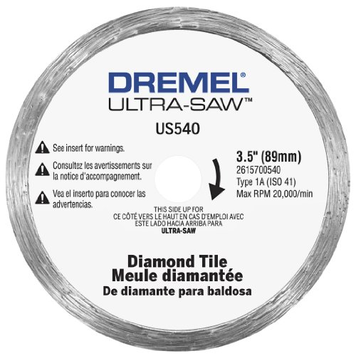 Dremel US540-01 Ultra-Saw 3.5-Inch Tile Diamond (Glass Saw Blade)