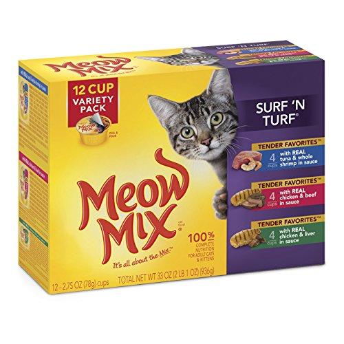 Meow Mix Tender Favorites Surf 'N Turf Wet Cat Food Variety