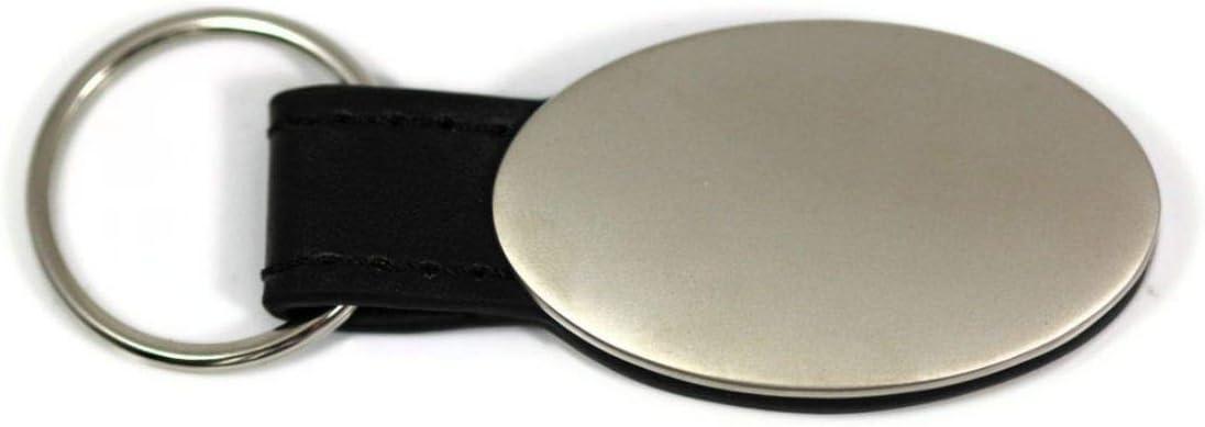 dantegts Honda Civic negro llavero ovalado de piel aut/éntica logotipo clave cadena clave Anillo llavero Lanyard 8,25/cm L x 2,54/cm W