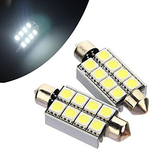 2 Wan Card Slot Network (2X 42MM 8 SMD 5050 Canbus LED Car Dome Interior White Light Festoon Bulbs Lamp)