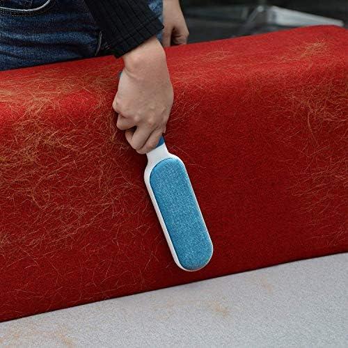 iHomy _Anti-poils brosse pour animal domestique - Brosse de nettoyage magique réutilisable pour enlever les poils d'animaux de compagnie avec Auto-nettoyage retirer Chien Chat Cheveux (Bleu)