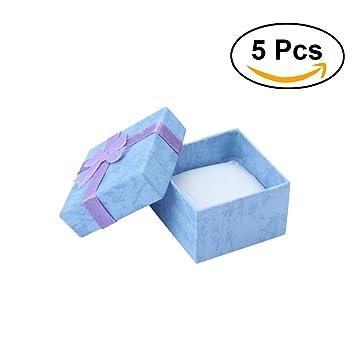 NUOLUX Cajas para Joyas Cajas de Carton para Joyeria Cajas Regalo Púrpura 5 Unidades: Amazon.es: Hogar