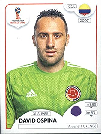 ed72979263c 2018 Panini World Cup Stickers Russia  634 David Ospina Colombia Soccer  Sticker