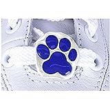 Blue Paw Print 2-piece Shoe Charm Set