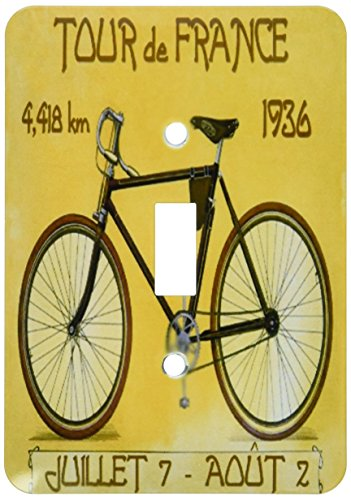 3dRose lsp_163246_1  Image of French Poster Ad of Tour De France Bike Race Single Toggle Switch