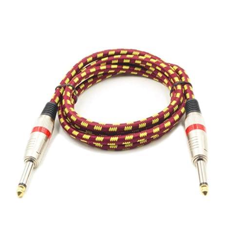 Cable de Guitarra eléctrica súper Largo de 3 Metros Profesión Cable de Instrumento Musical Cable blindado