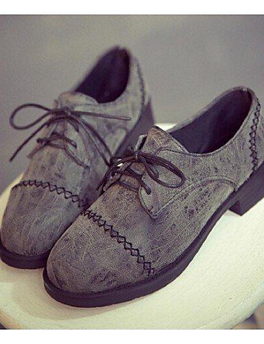 xzz/Damen Schuhe Quaste Schuhe Mode flacher Absatz Stiefelletten Kleid/Casual Schwarz/Braun/Grau, gray-us8 / eu39 / uk6 / cn39