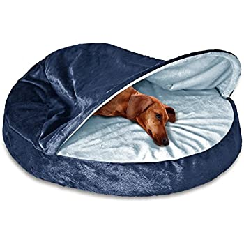Amazon.com : Cave Dog Bed Orthopedic Foam Fill - Hooded