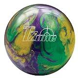 Brunswick Mardi Gras T-Zone Glow Bowling Ball, Green/Purple/Gold, 8 lb