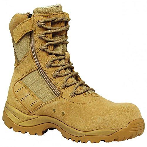 Tactical Research Belleville TR336 Guardian Zip Lightweight Desert Tan Composite Toe Boot, 8