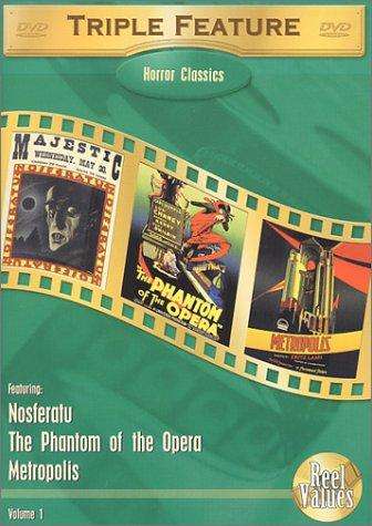 Horror Classics Triple Feature, Vol. 1 (Metropolis (1927) / Nosferatu (1922) / The Phantom of the Opera (1925)