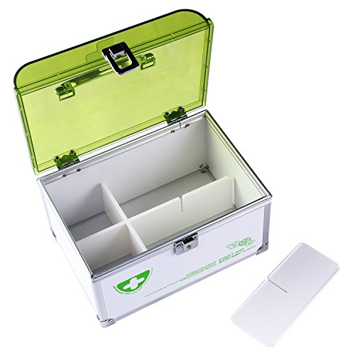 Glosen First Aid Box Lockable Medicine Storage Box with Child Safe Lock  8 46