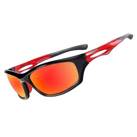 Queshark Polarizzati Sport Gli Occhiali Da Sole Neri Per Uomini Donne In Bicicletta a Fondale Guida Pesca Golf Gli Occhiali (Color 07) e9c9A