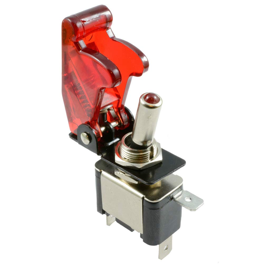 2 Red BBT Brand Marine Grade 12 Volt On//Off Push Button Switches