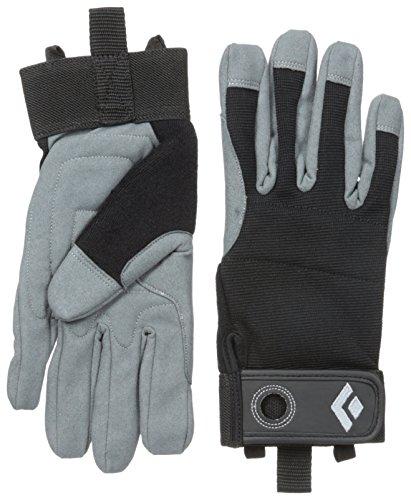 Rappel Gloves (Black Diamond Crag Climbing Gloves, Black,)