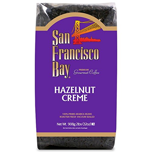 San Francisco Bay Coffee, Hazelnut Crème- Whole Bean, 2-Pound (32 oz.), Flavored