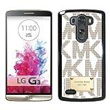 Genuine MK LG G3 Case,Michael Kors 100 Black LG G3 Screen Phone Case Fashion and Popular Design