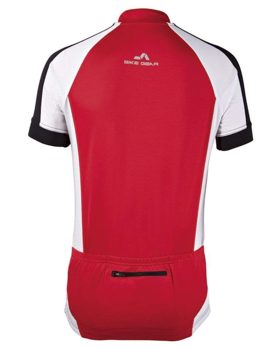 Crivit Men s Cycling Shirt - Red White - Size M (48 50)  Amazon.co.uk   Sports   Outdoors c5da9611e