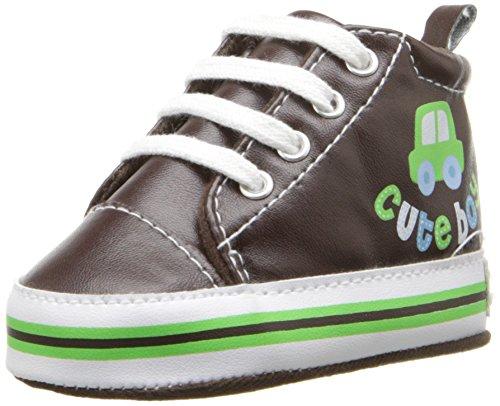 GerberCute Boy High Top Sneaker - K - tenis (Cute Boy High Top Sneaker - K) Niños, unisex, Chocolate, 9 M MX Infantil