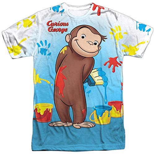 (Curious George Books Cartoon Movie TV Messy Monkey Adult 2-Sided Print)