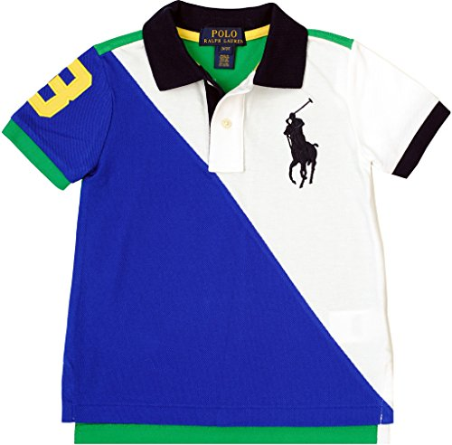 Polo Ralph Lauren Little Boy's Color-Blocked Polo, White, 2/2T