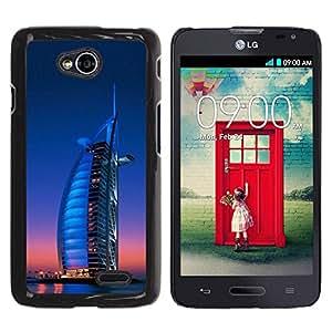 Be Good Phone Accessory // Dura Cáscara cubierta Protectora Caso Carcasa Funda de Protección para LG Optimus L70 / LS620 / D325 / MS323 // Burj Dubai