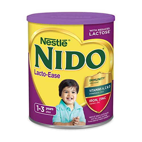 Nestle NIDO Lacto-Ease Whole Milk Powder 1.76 lb. Canister | Reduced Lactose Powdered Milk Mix (Nestle Dry Milk)