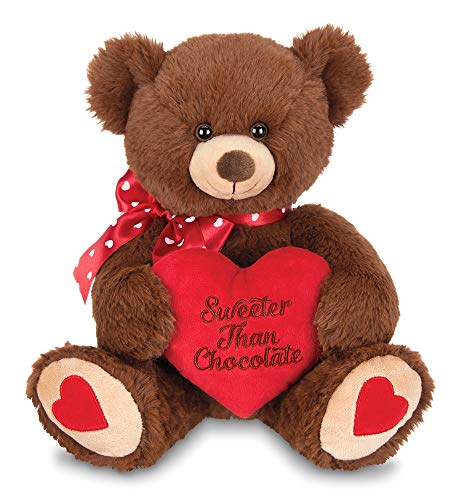 Bearington Beary Sweet Plush Stuffed Animal Teddy Bear with Heart, 12 inches ()