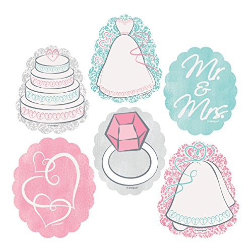 (Paper Bridal Shower Embellishment Decorations, Assorted 24ct)