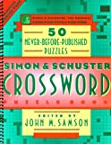 Simon and Schuster Crossword Puzzle Book, John M. Samson, 0684843595
