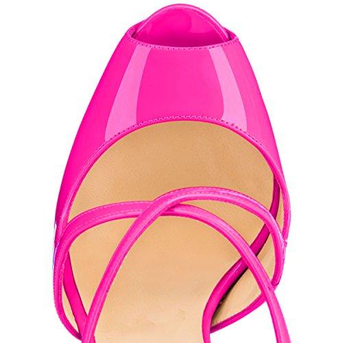 Tacco Donna Klassik Col Scarpe rosa Rosa Onlymaker qwAt7F