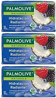 Palmolive Naturals Jabón de Tocador Frutos del Bosque y Agua de Coco Fabricado responsablemente con humectante